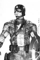 Chris Evan as Capt. America by FrankGo