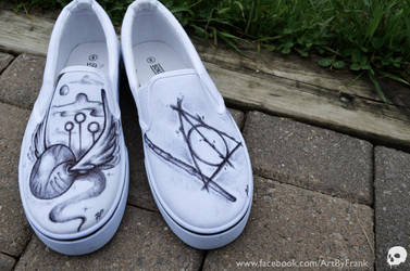 Harry Potter Themed Shoes by P-O-R-K-Y