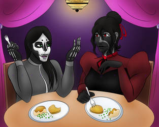 Dinner for Two: Commission from NocturnallyLunar by BeckyL97