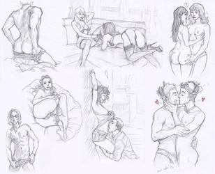 Erotica doodles by Aohmin