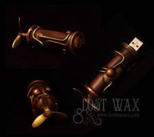 Steampunk USB Drive by Lostwaxoz