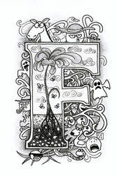 F Doodle by gormash