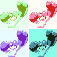 Mega Man pop art 2 by DevintheCool