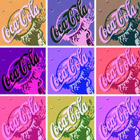 Coca Cola pop art 9 panel by DevintheCool