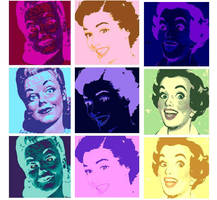 9 panel pop art by DevintheCool