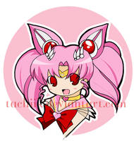 Sailor ChibiMoon Button by tachiik