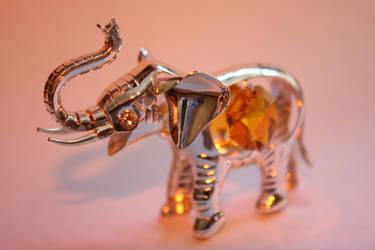 Elephant Orange by CattieClaw