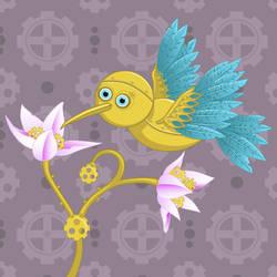Steampunk birdie by HellbeeretH