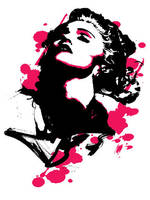 Screen Print Madonna by arosenlund