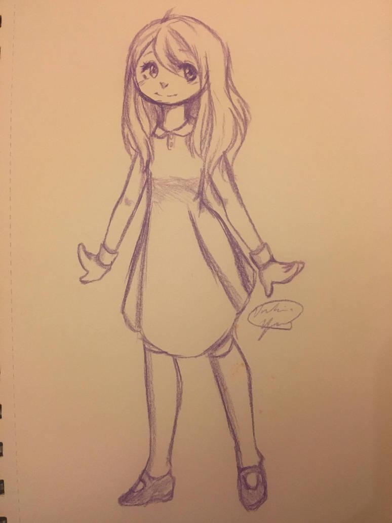 Anime Colored Pencil Sketch By Aleriius On Deviantart