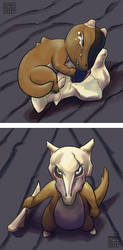 Kanto Pokemon - Cubone and Marowak by lissa-quon