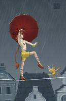 Ducks in the Rain by lissa-quon