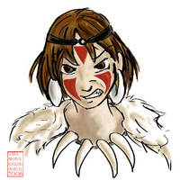 Mononoke-hime by lissa-quon