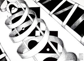 Black and White Abstract by lissa-quon
