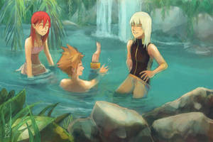 Summer at Destiny Island by JesterHikaru