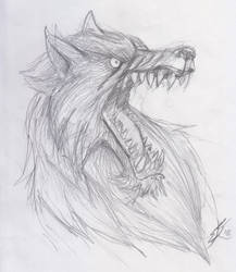 Old school metal fest sketches - woof by roadkillblues