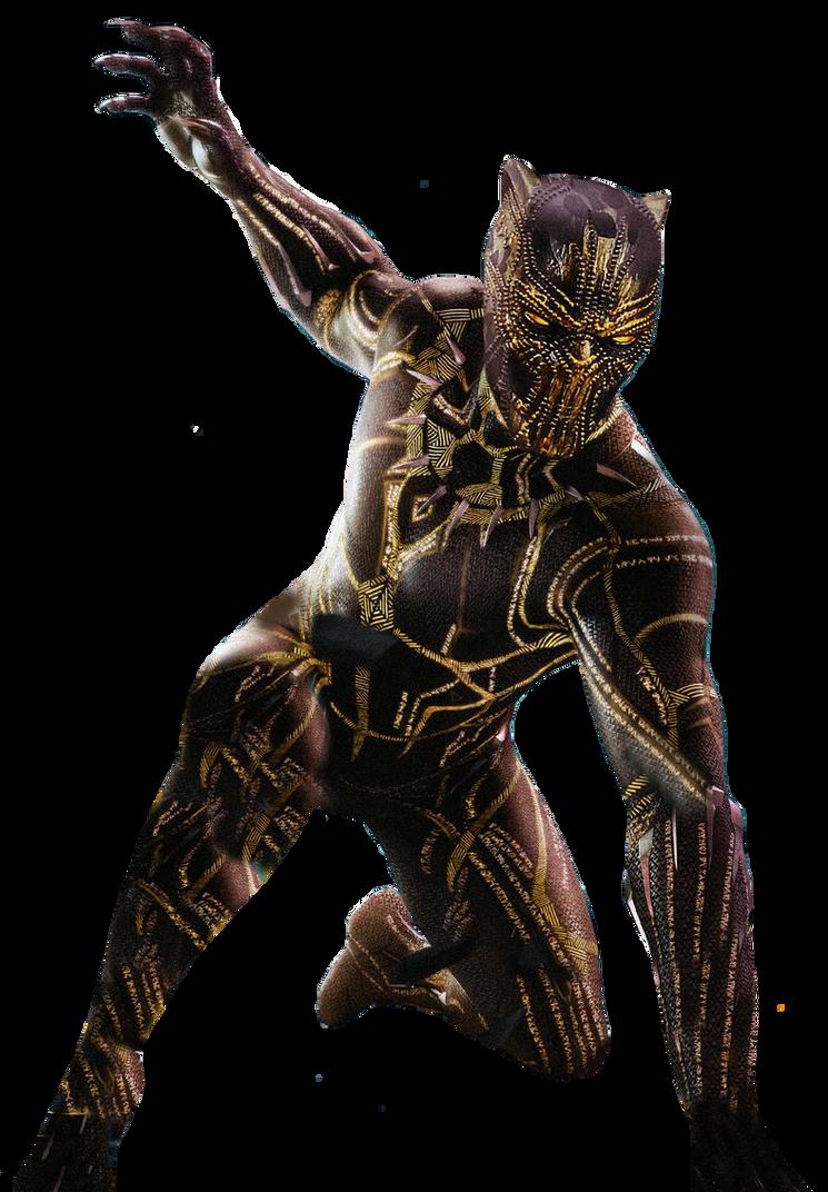 Mcu Black Panther Killmonger Golden Jaguar Png By Davidbksandrade