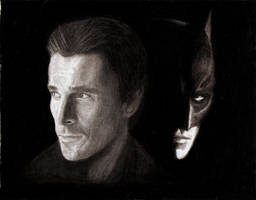 Christian Bale as Batman by THANITH-CS