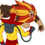 Pyro and Pyroar by RMan021