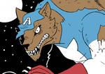Cap Wolf Is A Good Boy by RMan021