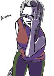 A random girl by dchanna