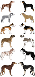 Canine Adoptables - 2 Left by smudge-92