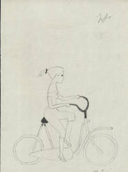 Suzie - Swedish girl on bike by saiaj