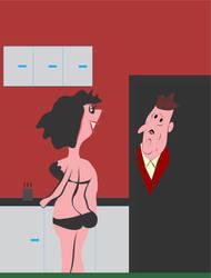She sober, him drunk, she happy, him sad. by saiaj
