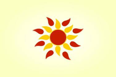 Aztec flower yellow and orange sun vintage vector by saiaj