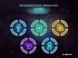 Hologram Social Media Pack by arieare