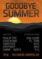GOODBYE SUMMER flyer by 2NiNe