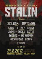 STALIN dnb open air vol.4 flyer by 2NiNe