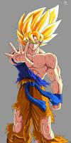 Goku ssj1 fan Art by kakarotoo666