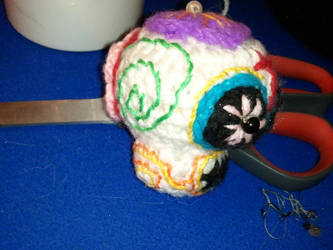 Amigurumi sugar skull - side by ShuggaMagnolia