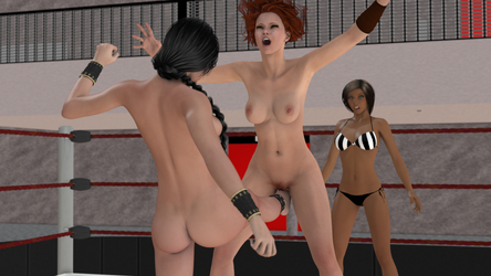 Laura vs Nicole 0010 by cptn0bvious