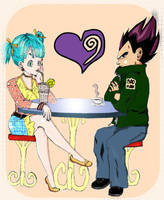 bulma and vegeta by gabybriefs93