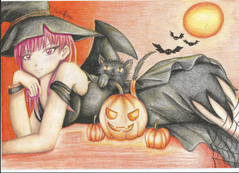 Magi the labyrinth of magic Halloween by marybomfigli