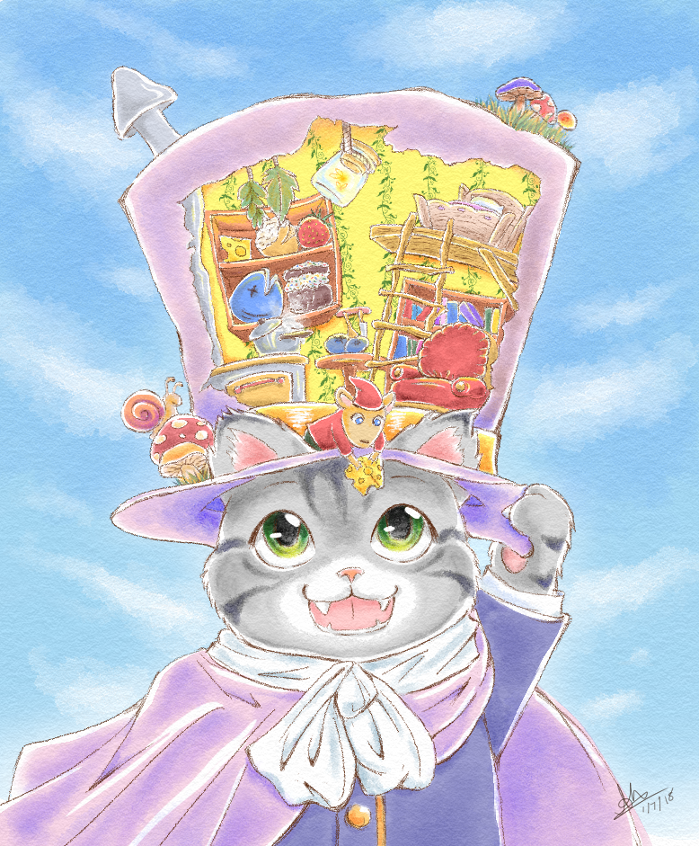 Cat with a Hat, Mouse with a House by bbqweasel