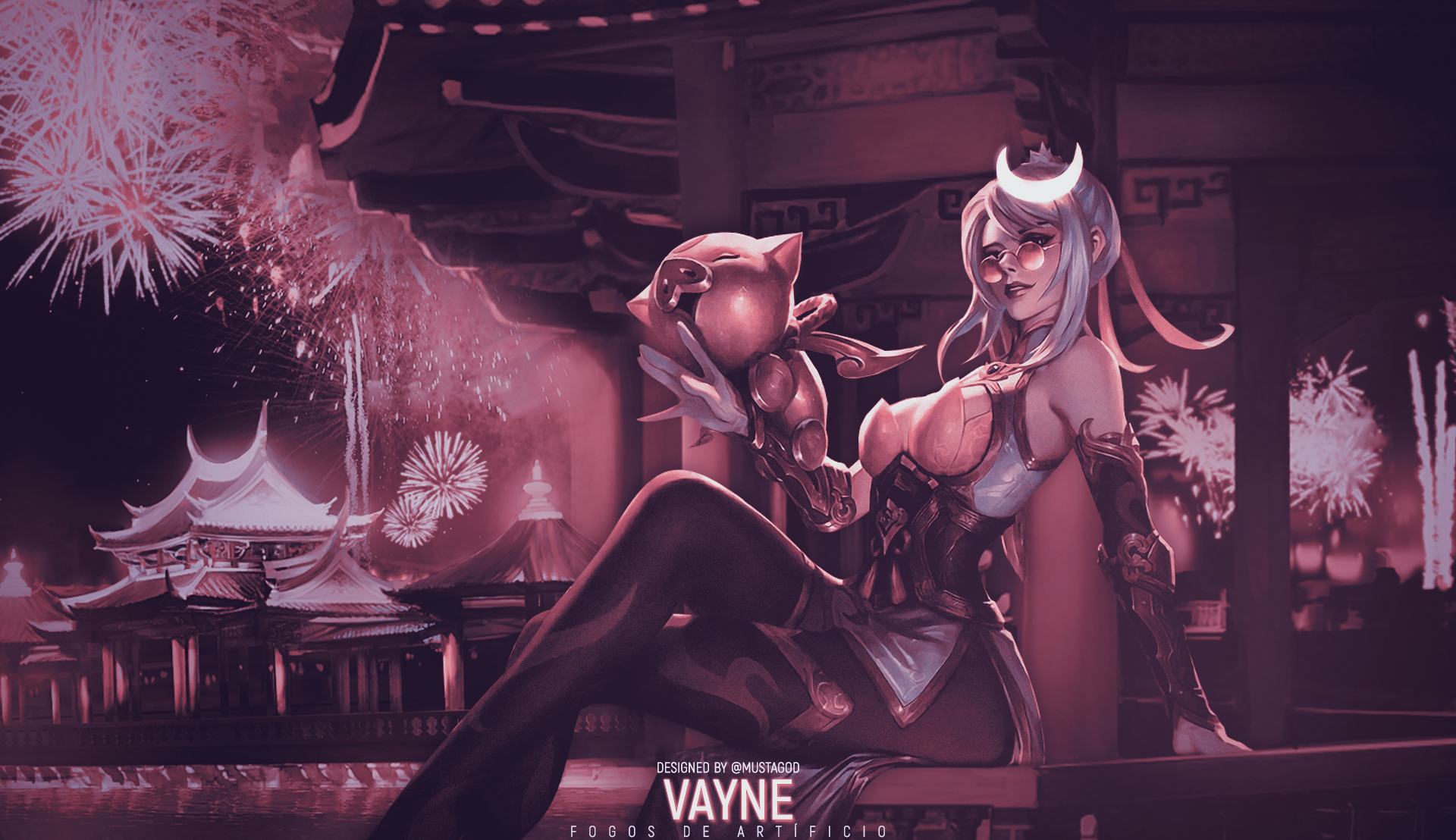 Vayne Firecracker | Wallpaper | RED by AlexMust4ng