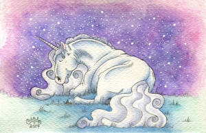 Sleepy unicorn by Sarosna85