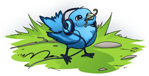 worm-Bluebird by akotori