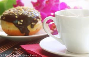 coffee and bun by ElaynaTeos