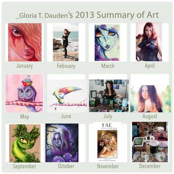 2013 Summary of Art by Gloria-T-Dauden