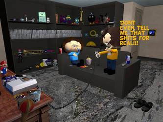 Game Grumps: Arin Rage by DarkMario2