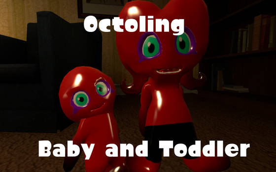 Octoling Baby and Toddler by DarkMario2