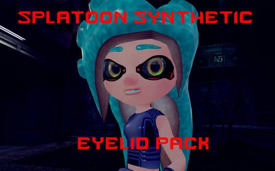 Splatoon Synthetic Eyelid Pack by DarkMario2