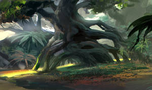tree  speedpainting~! by zukang