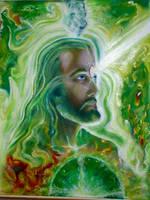 psychedelic jesus by thothflashpan