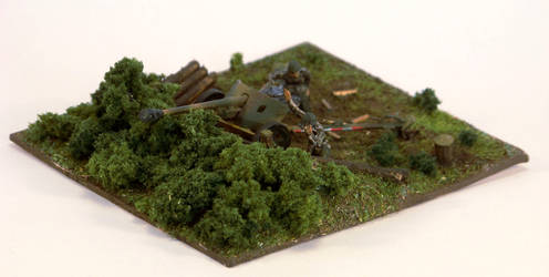 1/72 scale PaK 40 diorama front by Nixod321