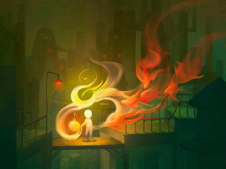 Tablefy - Water Lantern by ethe
